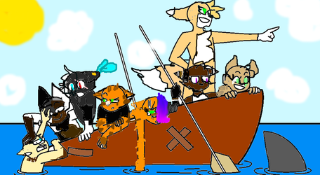 When u try to take ur friends on a boat trip XD by Sandyy253