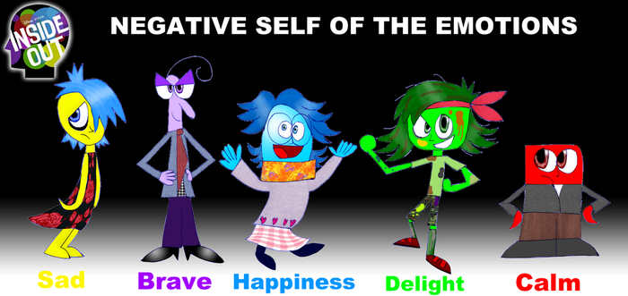 Inside Out-Negative Emotions by zigaudrey