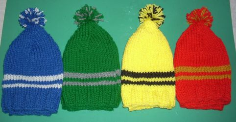 Hogwarts House Color Hats by MamaDoom823