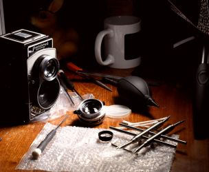 It's Vintage Camera Repair Night!  by anseo1985