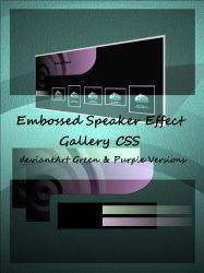 Speaker Effect Gallery CSS by Jedania