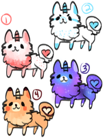 [ADOPTABLES] CLOSED: 5 point Uni-Fluff Dogs by Mousehearts