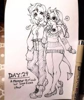 Inktober Day:29-Monster Girl and Significant Other by rap1993