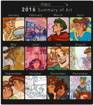 2016 Art Summary by Hapo57