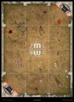 Mage Wars - Arena game board: Selenia (Anc. Greek) by Deligaris