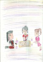 Azula and her friends conduct a seance by Kelseyalicia