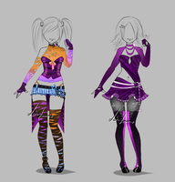 Outfit design - 251 - 252  - version 2 by LotusLumino