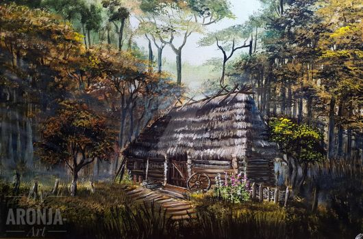 Cabin In The Woods by Aronja