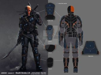 Arrow Season2 DeathStroke backview and breakdown by AndyPoonDesign