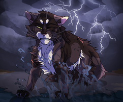 thunder crashing all around me (COMMISSION) by th1stlew1ng