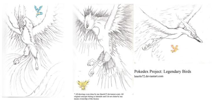 Pokedex Project: Legendary Birds by lmerlo72