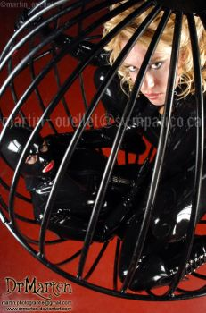 latex cage by DrMarten-Fetish-SM