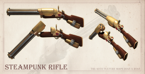 Steampunk Rifle by ValiantDan