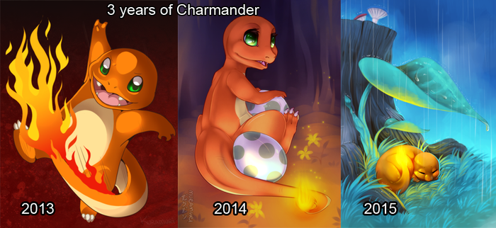 3 year improvement! by Pokemura