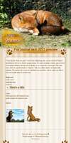 2013 free Fox journal skin (updated) by MistyGoldArt