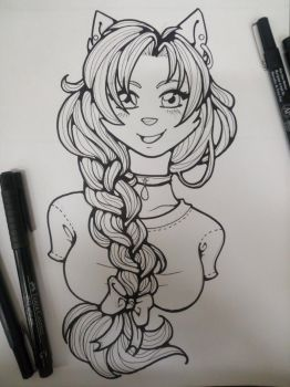 braided // inktober by obliviousally