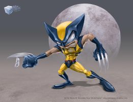 Wolverine toon on colors by aladecuervo
