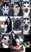 Husky/Malamute Mask *auction* by DreamVisionCreations