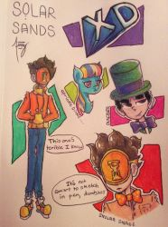 Solar Sands Warm Up Sketches (Fanart) by YamahaPianoIDK