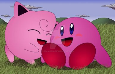 Kirby and Jiggly by dolmonm