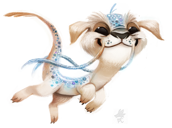 Daily Paint #669. Falcor by Cryptid-Creations