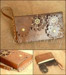 Long Steampunk Clutch by izasartshop