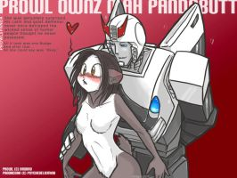 Prowl Ownz Mah Pandabutt by PsychedelicMind