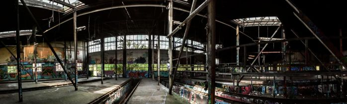 Inside an old Remise panorama by holmphoto