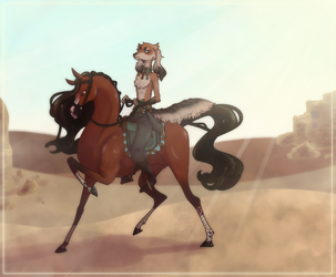 Noblesteed (Art trade) by AJ-H