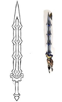 Claymore Sword - Rough Design by boxthissideup