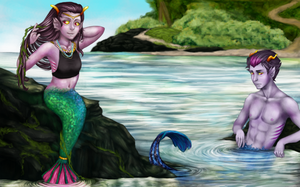 Eridan and Fef as FISHIES oh yes by yourcommonmuggle