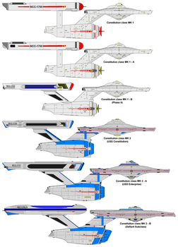 Constitution class ships by nichodo