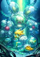 Pokemon x UNDERTALE : Alphys and Reuniclus