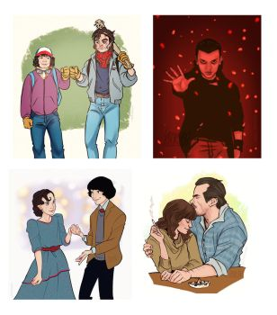 Stranger Things by Fennethianell