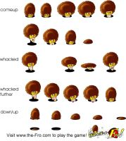 Whack-A-Fro Flash Game Art by chrisharden