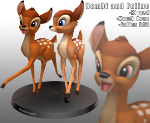 MMD- Bambi and Faline -DL by MMDFakewings18