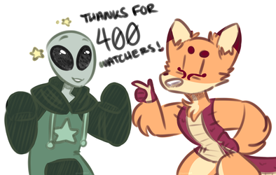 thanks for 400 fuckers by comunagrave