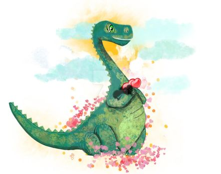 happy dino by nurie