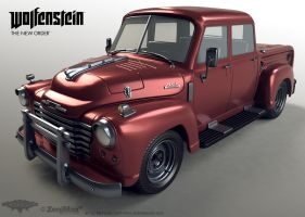 Old Truck Highpoly by panick