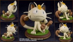 Commission : Meowth Ponders by emilySculpts