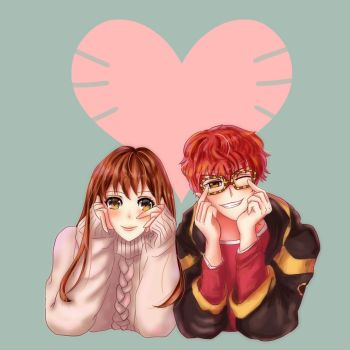 Mystic Messenger: MC and 707 Valentine 2018 by Chocolate3407