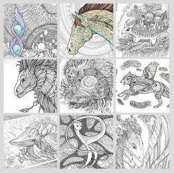 Colouring pages by hontor
