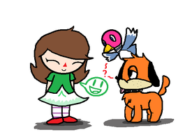 Female Villager and Duck hunt Duo by Toadettegirl123306