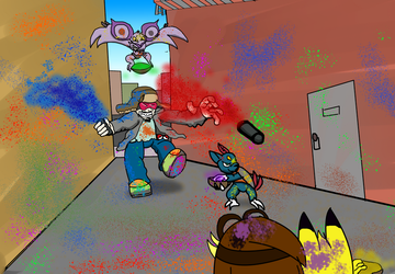 Color fight: this is with out a doubt cheating! by vindurza