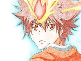 Tsuna Hyper Dying Will Mode by happylilsquirrel