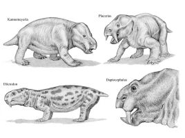 Dicynodonts 3 by WillemSvdMerwe