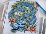 Japanese Dragon Tattoo  (On Color) by EG-TheFreak