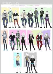 PT - Outfit Map: Gwen, Tammy, Blaire by Beedalee-Art