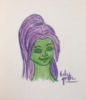 Green and Purple by erbyderby24