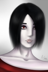 Portrait of a vampire by AkumaCursed